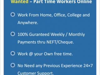 We are hiring- Earn Rs .15000/- per month- simple copy paste job
